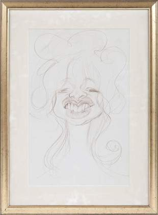 FROM RON WOOD COLLECTION JO WOOD CARICATURE - S KRUGER