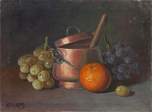FROM RON WOOD COLLECTION (OIL ON CANVAS RIVAS)