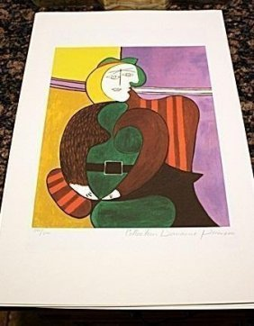 Picasso Signed Numbered Lithograph Coa - Red Armchair