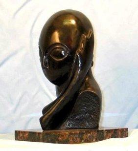 Brancusi Original Limited Edition Bronze - Mlle Pogany