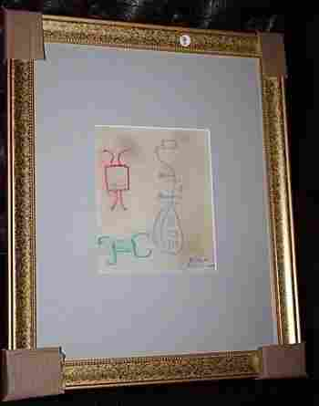 Exquisite Picasso Signed Oil Pastel on Board Framed COA