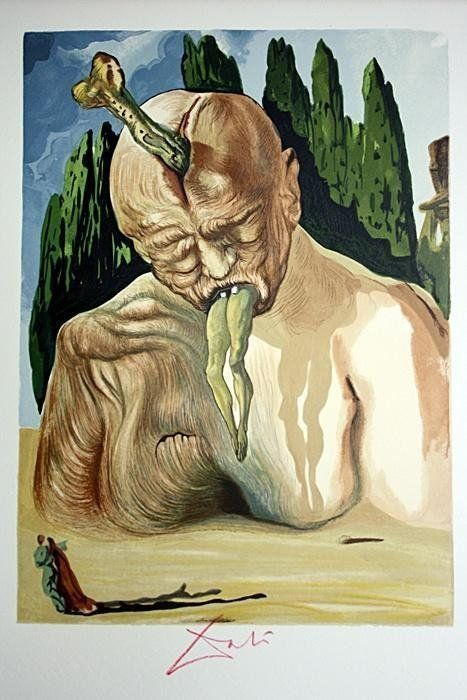 Extremely Rare Original Salvador Dali Woodblock Signed