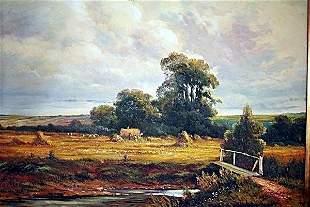 Exquisite European Original Oil On Canvas Signed Deluca
