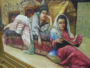 Original Oil On Canvas European late 19 th Orientaliste