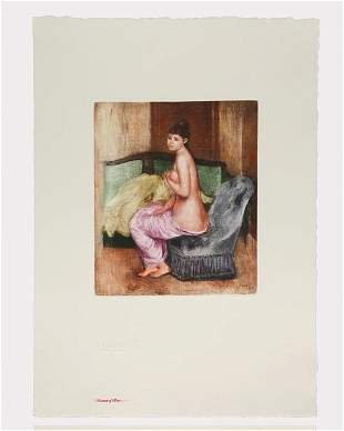 Le Repos- Renoir /Ambroise Vollard - Colored Etching