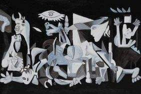 """Great Ltd Ed 1/10 Oil on Canvas """"Guernica"""" Picasso"""
