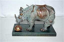 Exquisite Dali RHINOCEROS Bronze Sculpture EDI/299