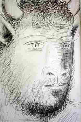 Pablo Picasso Offset -1st.Mai.37 Study # 3 Guernica COA