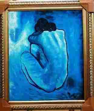 Picasso - Blue Nude Oil on Canvas 20x24
