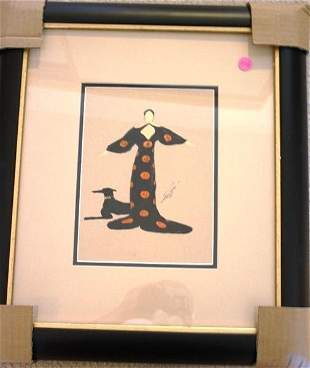 Wonderful Attributed to Erte Gouache (The Orient) With