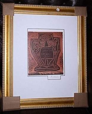 Vailauris Signed Picasso Original Lithograph 1961