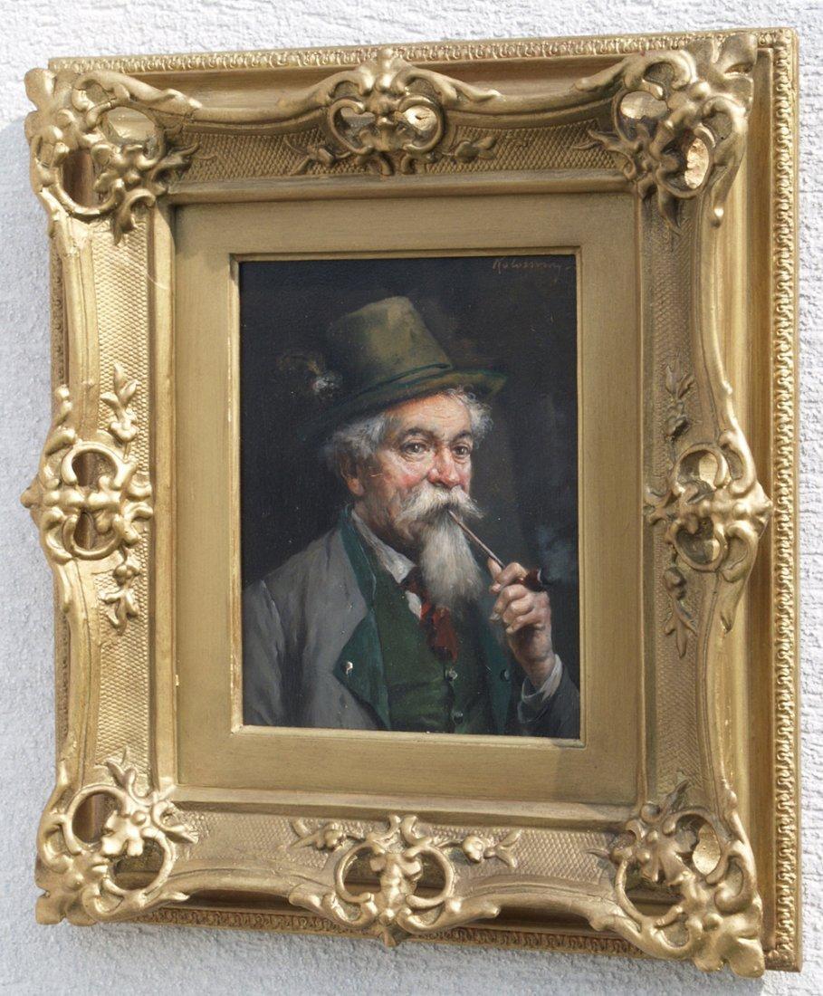 Lajos KOLOZSVARY 1871-1937 JEWISH PIPE SMOKER