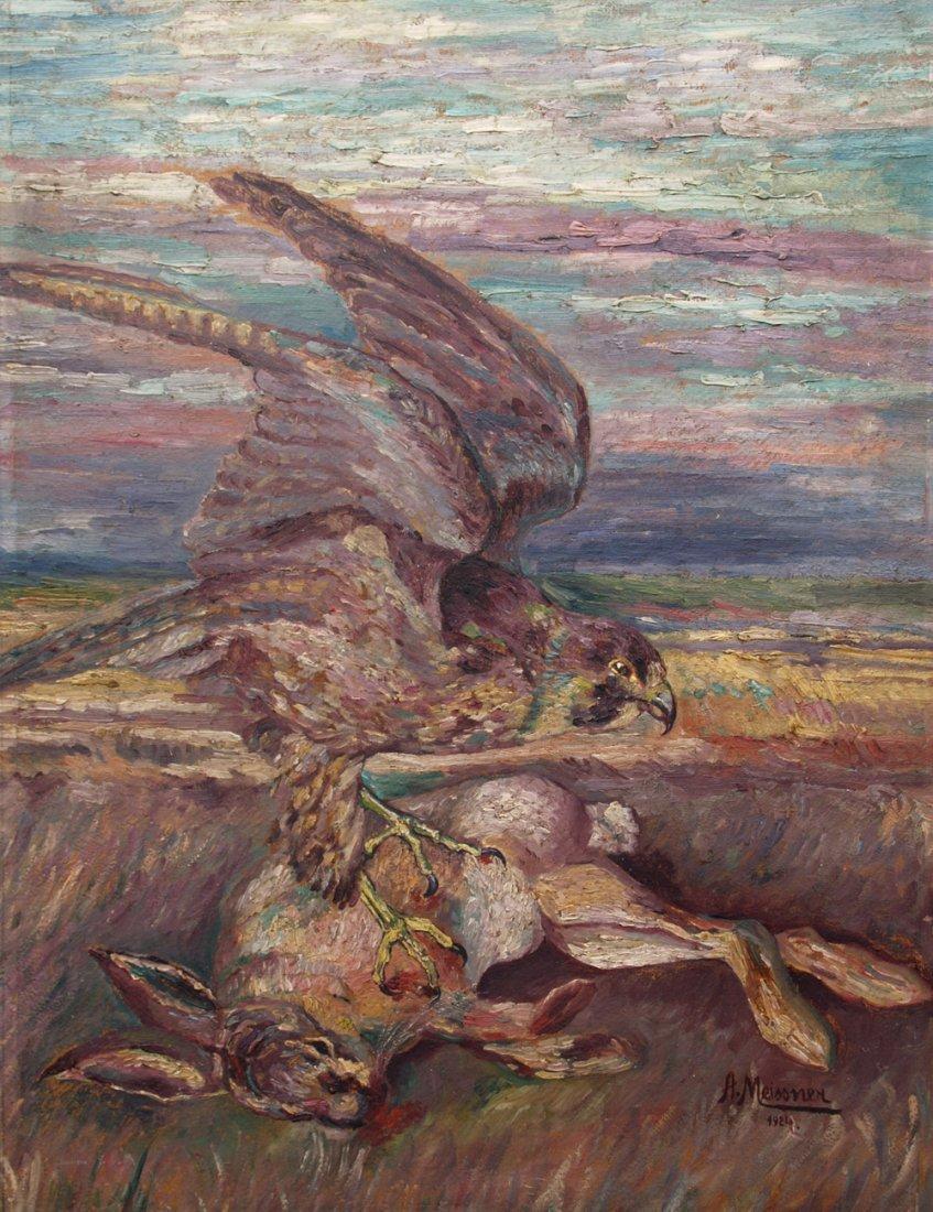 ALFRED MEISSNER  1877-? HUNTING SCENE