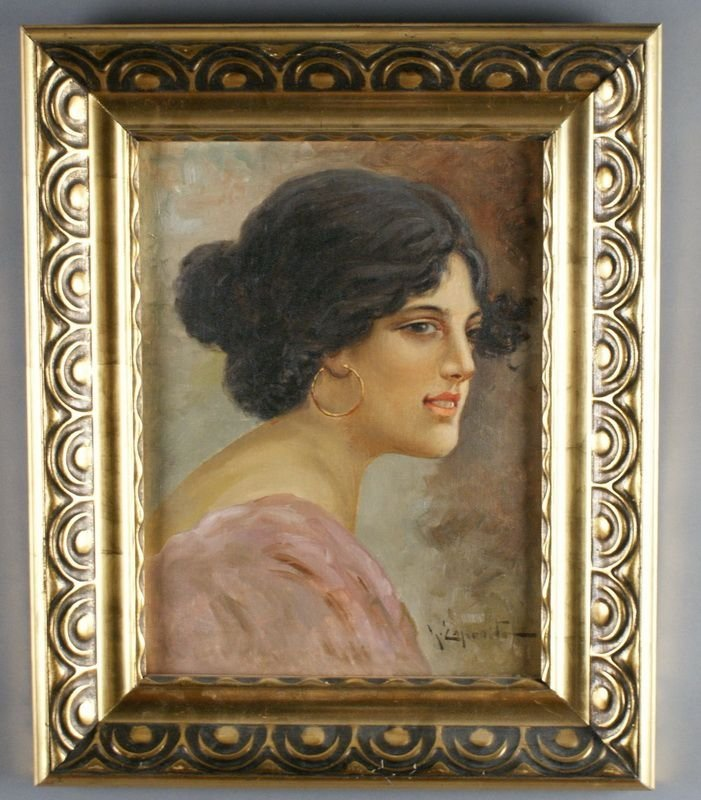 Gaetano ESPOSITO  1858-1911  ITALIAN BEAUTYS PORTRAIT