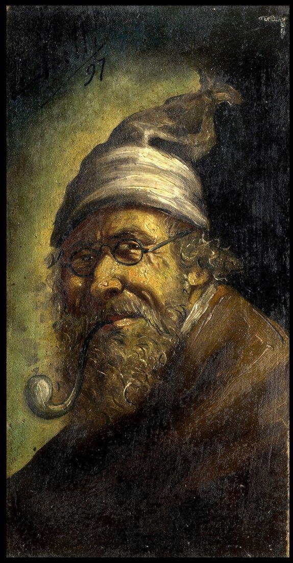 Enrico BELLI XIX Ct. MONKS PORTRAIT DATED 1897