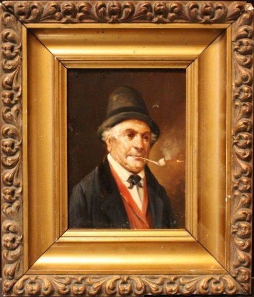 Lajos KOLOZSVARY 1871-1937 PIPE SMOKER, HUNGARIAN