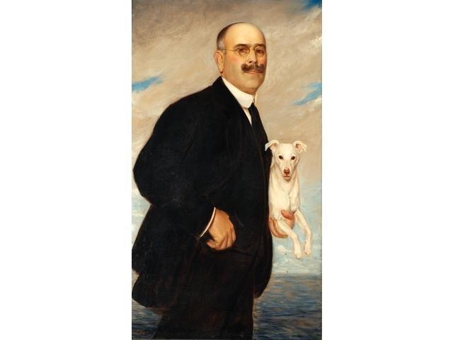 Gabriel Herve 1868-? Portrait of Monsieur de Rothschild