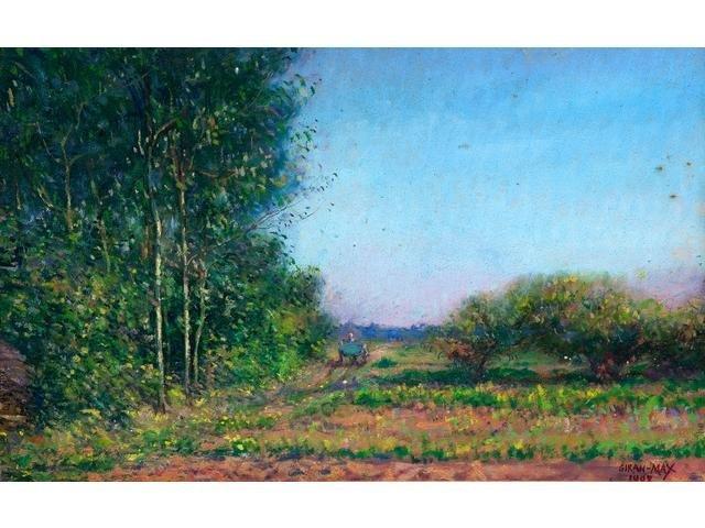 Léon GIRAN-MAX 1867 - 1927 FRENCH LANDSCAPE DATED 1908
