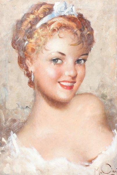 Manlio CIANI  1910-1990 ITALIAN BEAUTYS PORTRAIT
