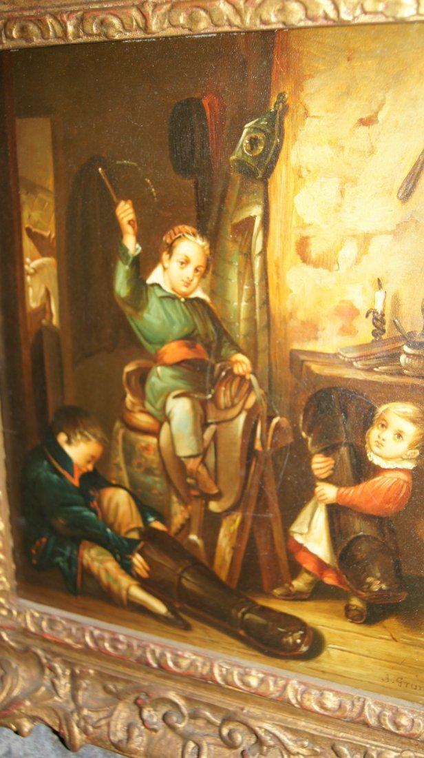 LOT OF 2 - Johann Grund 1808-1887 AUSTRIAN, CHILDREN - 4