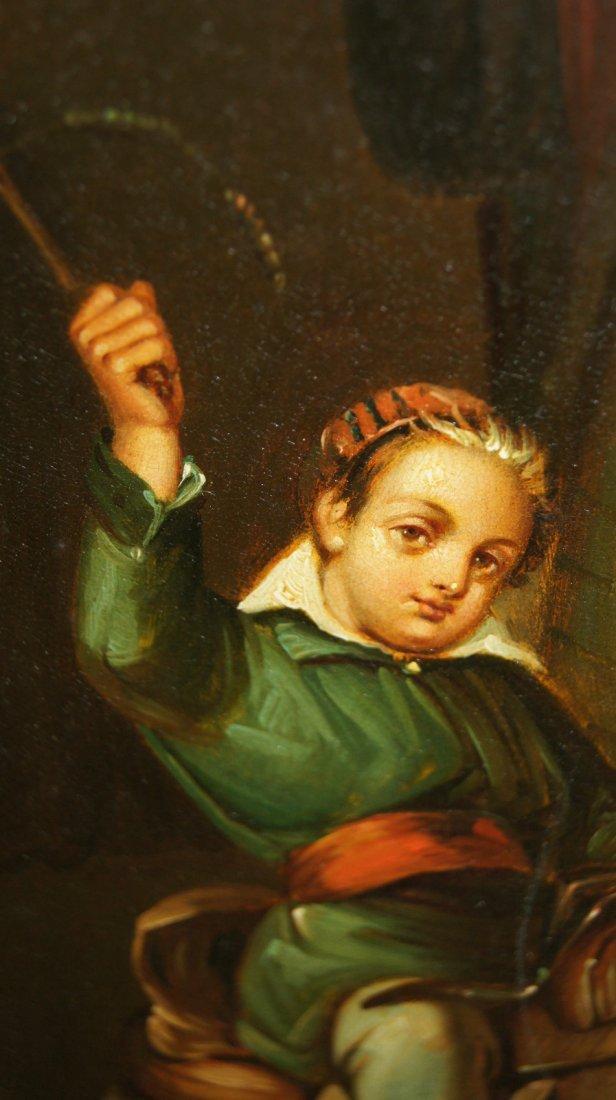 LOT OF 2 - Johann Grund 1808-1887 AUSTRIAN, CHILDREN - 5