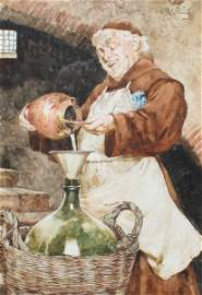 Samuel DA COSTA 1845-1923 INTERRIOR SCENE