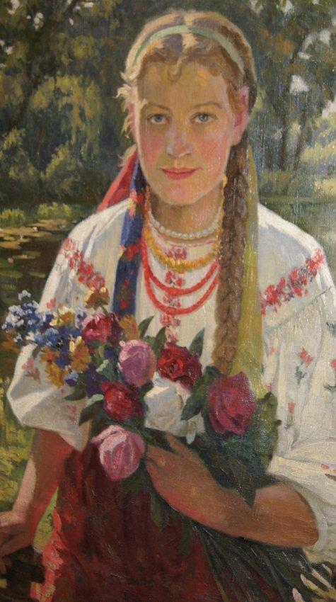 Taras Nikitich Maksimenko 1884-1972 Ukrainian girl