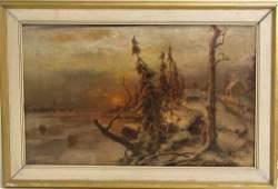 Yuli Yulievich KLEVER 1850-1924 RUSSIAN LANDSCAPE