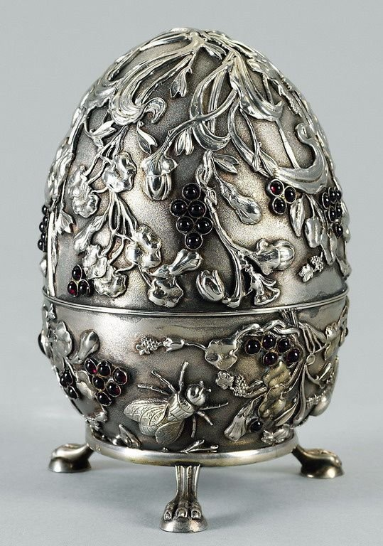Russian silver egg - begining 20th ct.