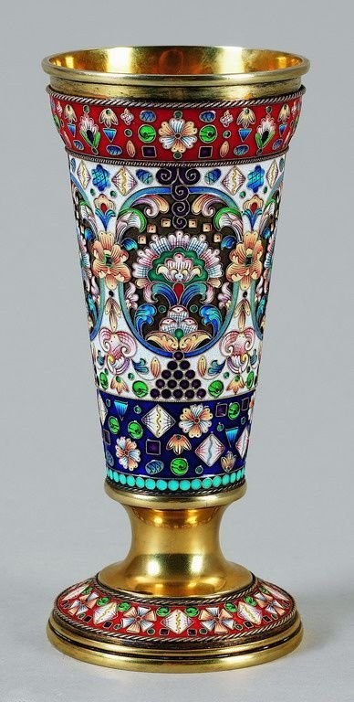 FABERGE - Heavy enamelled cup