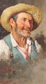 Giuseppe GIARDIELLO 1887-1920 ITALIAN FISHERMAN