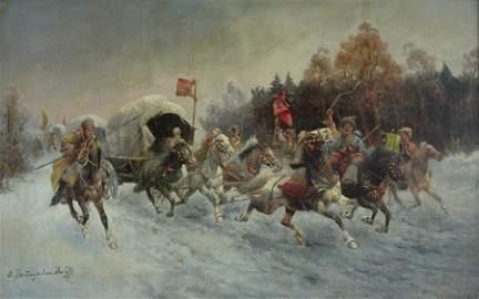 Adolf Baumgartner Stoiloff 1850 - 1924 Russian Cossacks