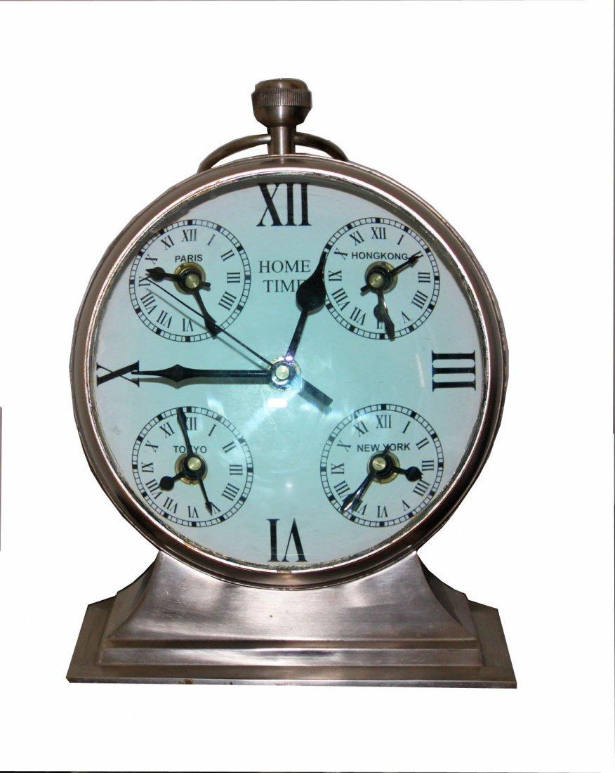 Large Magnify Glass Chrome clock