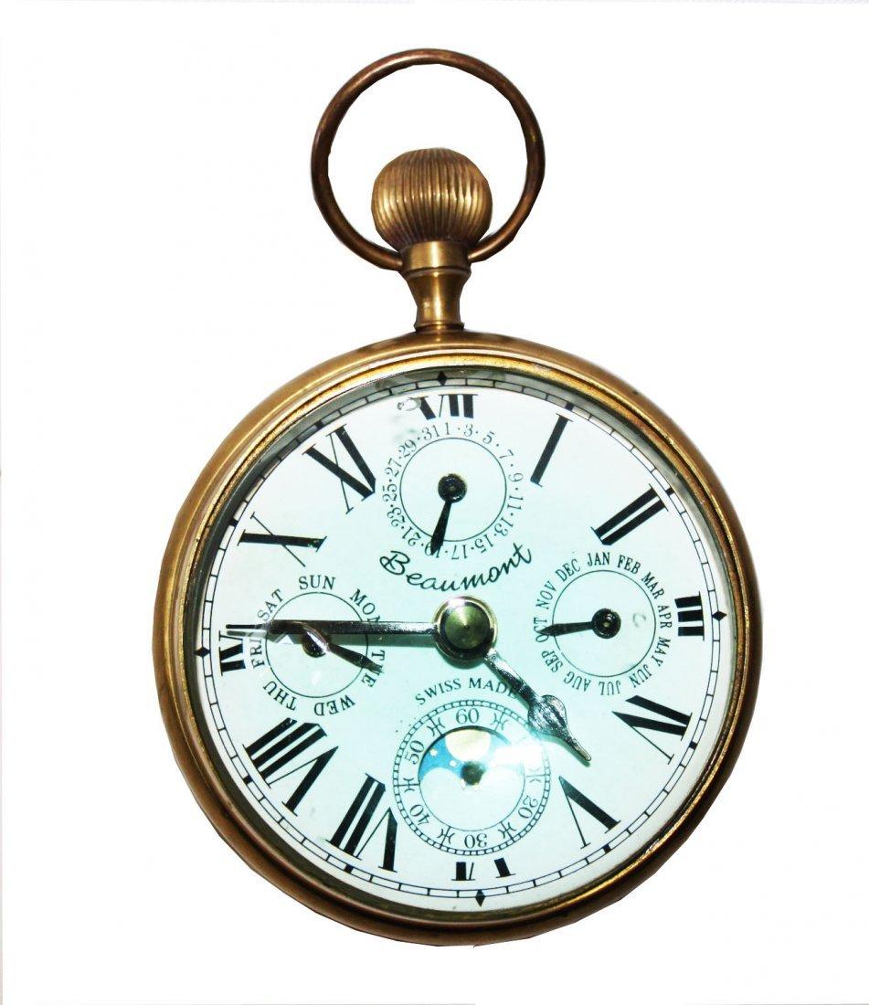 Beaumont Magnify Glass Round Desk Clock