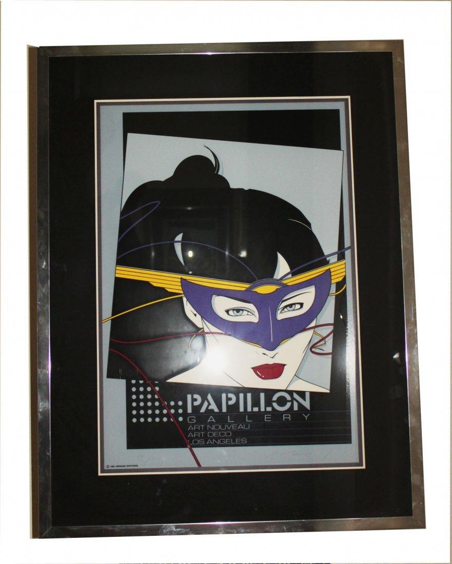 "Patrick Nagal Signed Serigraph ""The Mask"" Papillon"