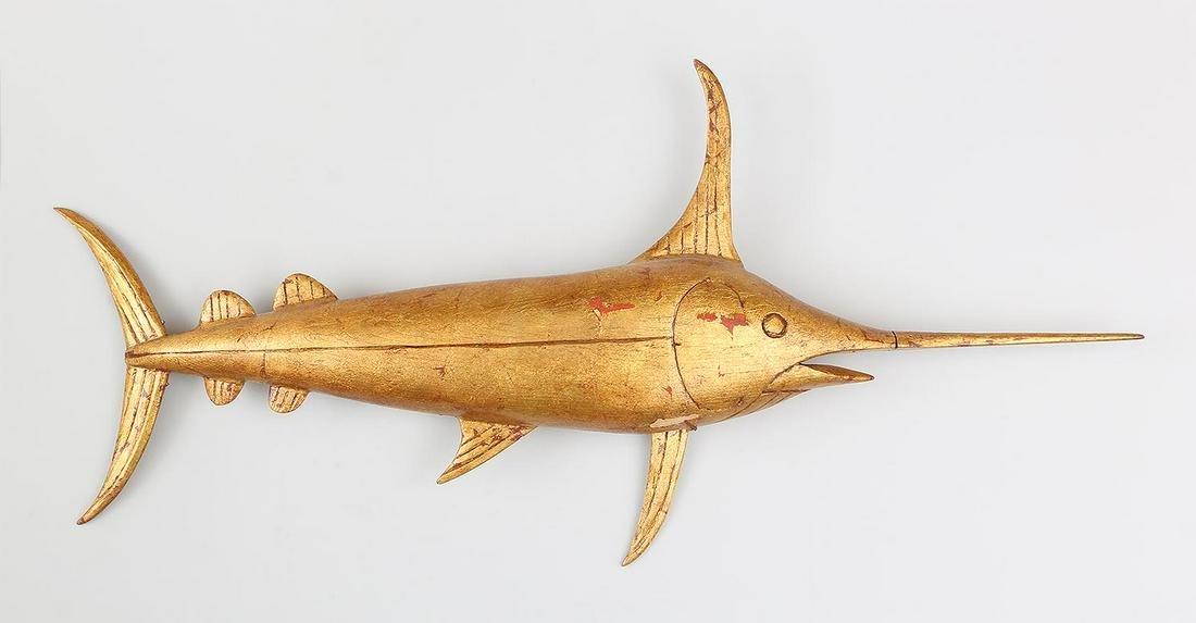 Swordfish weathervane by George Combs Jr.