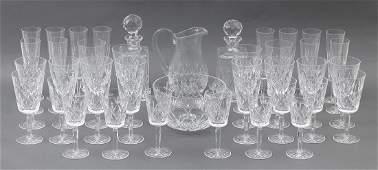 Set of (42) piece crystal stemware by Tiffany & Co