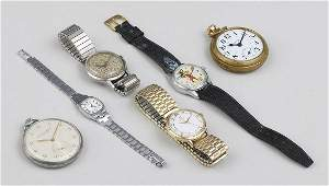 Group of (6) watches