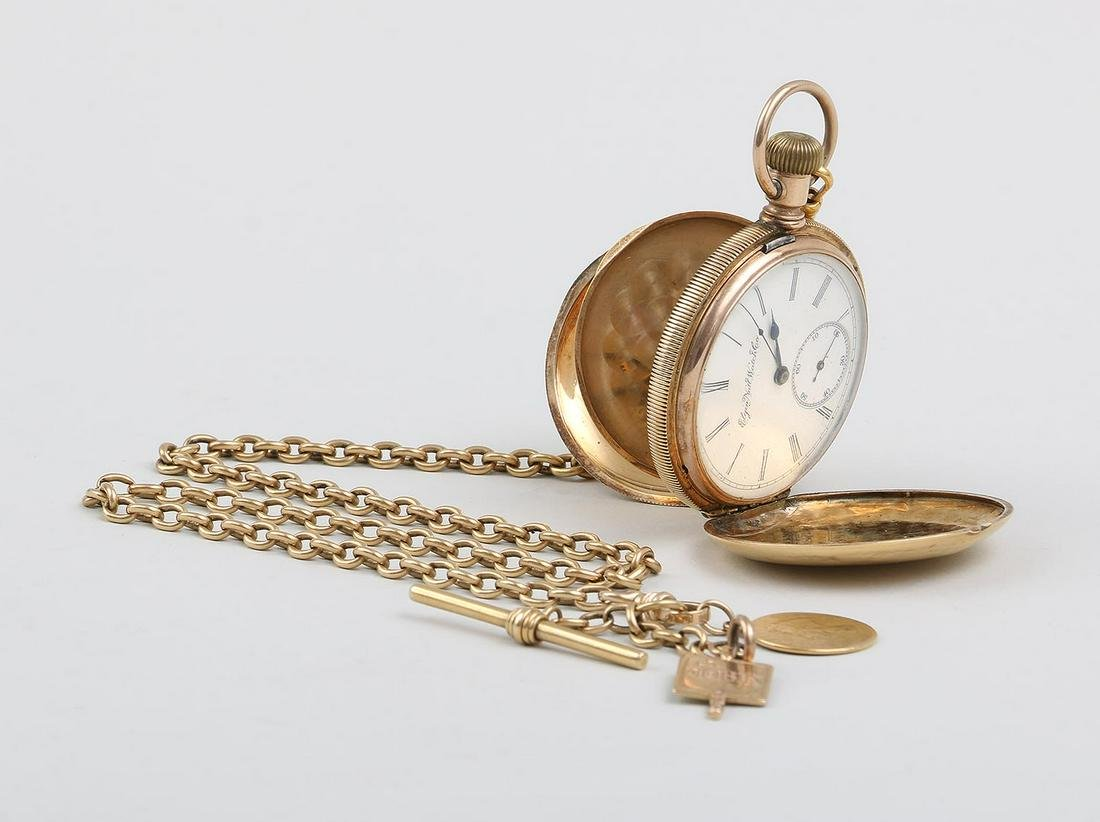 18k gold hunt case pocket watch