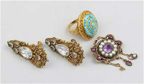 Group of 3 14k gold jewelry items