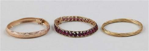 Group of 3 14k gold bracelets