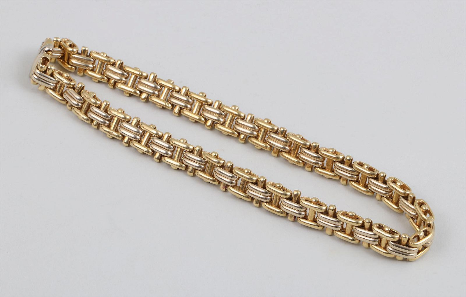 Italian 18k gold link necklace