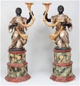 19C Venetian blackamoor figures