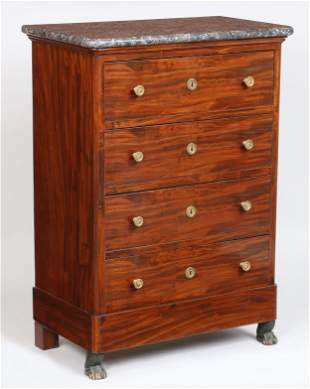19th century French marble top chest