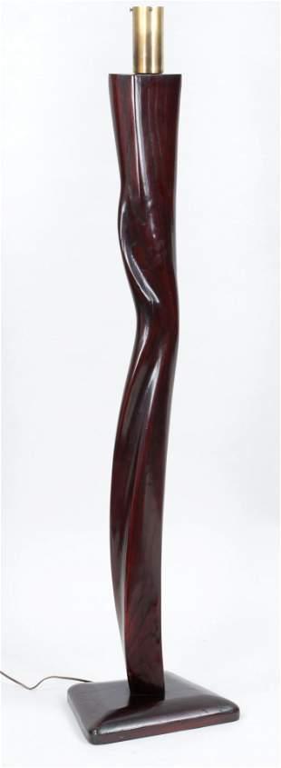 Heifitz, 1950s  wood floor lamp