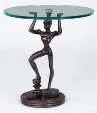 Metal figural side table