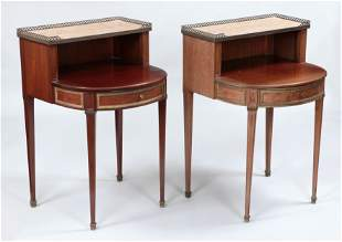 Pair French style side tables