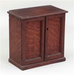 19C dresser top miniature cabinet