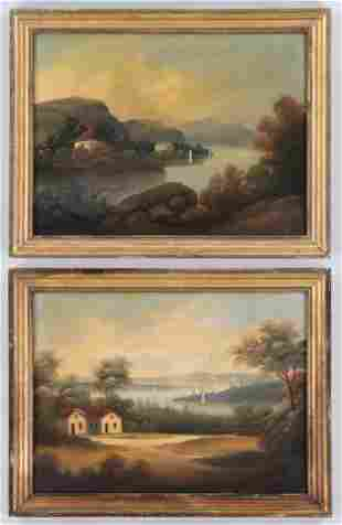 Pair of 19C Hudson River Valley landscapes