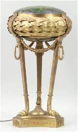 Gilt bronze Loetz table lamp